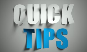 Quick tips cut from paper on background